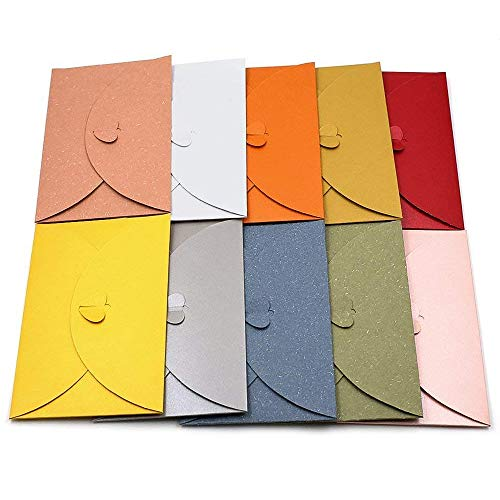 20 Stück/lot farbige Papier Briefumschläge Herz Schnalle CD Umschläge Post Karte Halter