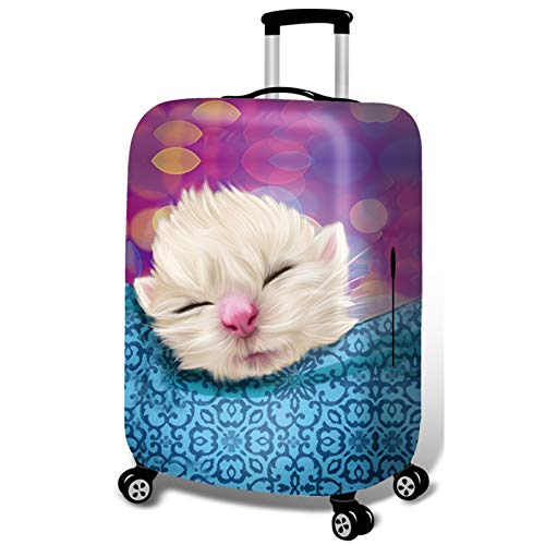 DATUI Cat Elasticity Print Trolley Case Protective Cover Kitten Travel Luggage Protector Suitcase Cover Washable Dust Cover (Size : Xl)