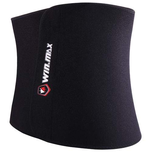 WIN.MAX Waist Trimmer Belt,Waist Trainer for Women,Weight Loss and Sweat Wrap,Slimmer Kit for Men,Abdominal Trainer,Adjustable Waist Cincher Trimmer,Sport Sauna Effect