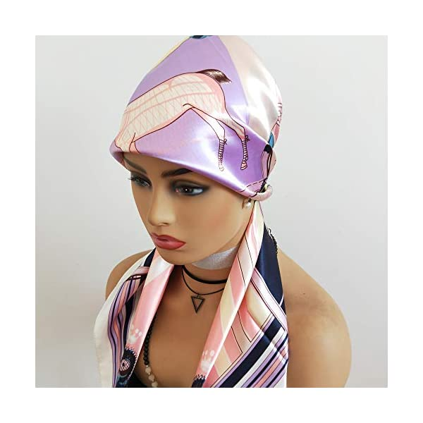 Silk Headband for Hair Wrapping at Night Silk Like Satin Scarf Large Square Satin Headscarf Women Fashion Scarves