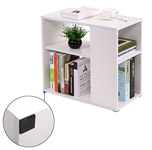 White Wood Bedroom Console Stand Cube Book Storage Sofa End Table + eBook
