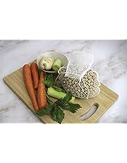 Fackelmann Bolsa, Malla legumbres y verduras, Ca. 2kg, resiste 180ºC, 36,5cm, nylon, blanco