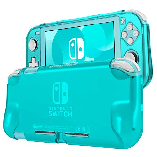 TNP Hard Case for Nintendo Switch Lite Case Skin Cover (Turquoise) Comfort Grip Enhance, Lightweight, Slim, Scratch & Shock Protector Protective 2 Piece Shell Nintendo Switch Lite Accessories