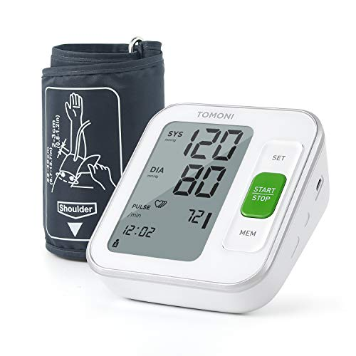 tomoni Blood Pressure Monitor for Home Use - Automatic Upper Arm Blood Pressure Cuffs, Adjustable Cuff 8.7