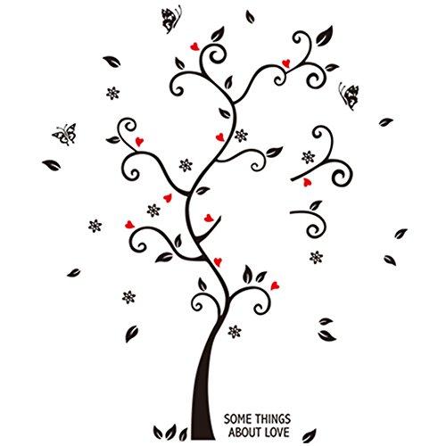 winhappyhome Bonheur mémoire Stickers Art Mural Arbre pour chambre d'enfants Salon Chambre fond amovible DIY Décor Nail Art