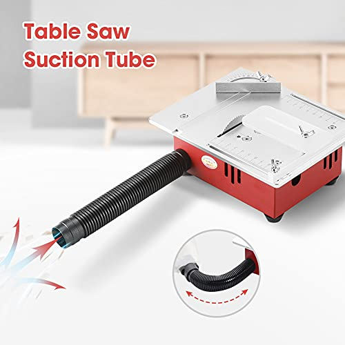 Mini Table Saw, SeeSii 0-14mm Sawblade Lifting Height Electric Desktop Saw 9200/min Household DIY Woodworking Precision Cutter Small Cutting Machine for Wood Plastic