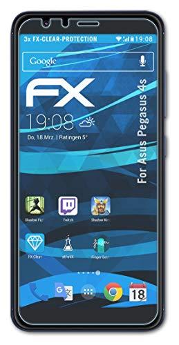 atFolix Schutzfolie kompatibel mit Asus Pegasus 4s / Zenfone Max Plus M1 Folie, ultraklare FX Bildschirmschutzfolie (3X)