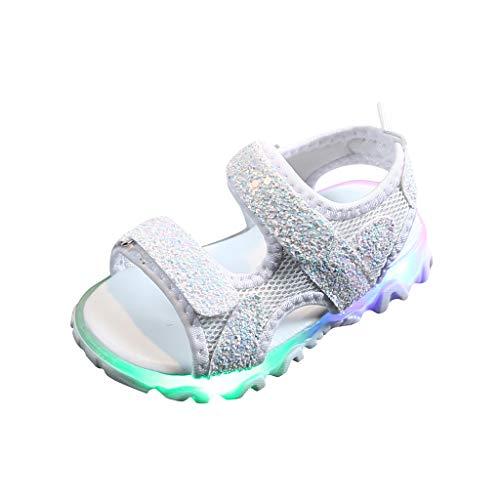 YWLINK Zapatos De Luz Led NiñOs Y NiñAs Zapatillas De Malla Transpirables Antideslizantes Fiesta Zapatos Intermitentes Nuevo Sandalias Inferiores Suaves Regalo De CumpleañOs Zapatos Luminosos