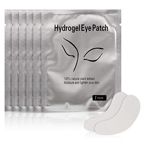 50 Paar Eye Gel Pads, Eyelash Extension Gel Augenpads für Wimpernverlängerung - Einzeln verpackt