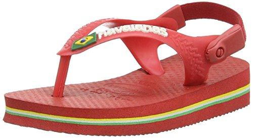Havaianas Unisex-Kinder Baby Brasil Logo Sandalen, Rot (Rot 2090), 21