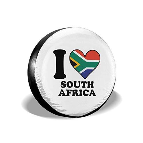 fingww Tire Cover Ich Liebe Südafrika Südafrikanische Flagge Herz Universal Langlebiger Reifendurchmesser Druck Wetterfeste Bunte Rad Reifenabdeckung Für Die Meisten Autos 15in/70~75cm