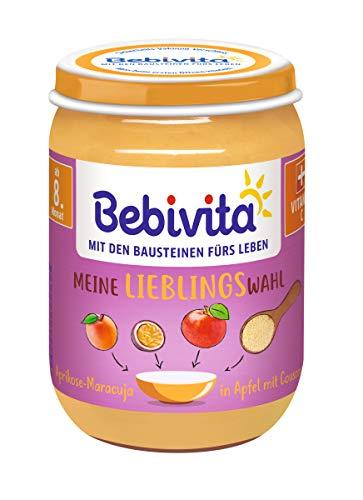 Bebivita  Frucht & Getreide, Limitiert - Aprikose-Maracuja in Apfel mit Couscous, 6er Pack (6 x 190 g)