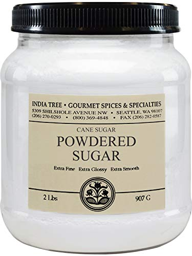 India Tree Fondant Icing Sugar 2lb , 64 Ounce, (Pack of 2)