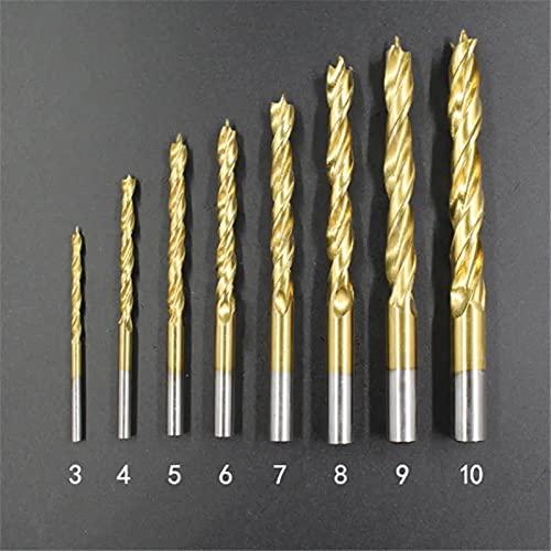 Juego de 8 brocas de titanio de 3 a 10 mm, para carpintería, jardín y herramientas manuales