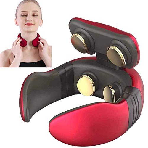 AIMCAE Intelligent Neck and Shoulder Portable Massager with Heat, Smart 4D Cordless Pain Relief Equipment with Remote Control, Best Gifts