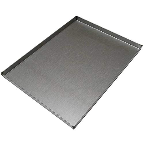 Erre4m Teglia da Forno 60x40x2(h.) cm. in lamiera alluminata (LS) Professionale