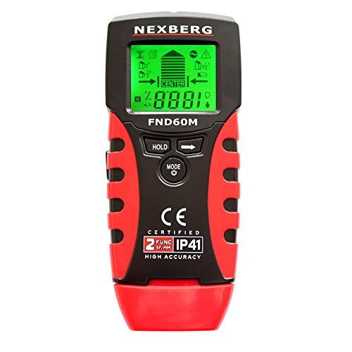 Ortungsgerät NEXBERG FND60M Metalldetektor Stud Finder Wand Scanner Detektor für Metall Rohre Holz AC Spannungsführenden