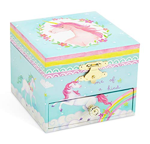 Jewelkeeper Musical Jewelry Box, Unicorn Rainbow Design with Pullout Drawer, The Unicorn Tune 4