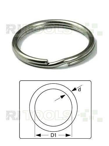 100 Stück Schlüsselringe 12 mm Stahl Schlüsselring Glänzend NEUWARE TOP-ANGEBOT (933505)