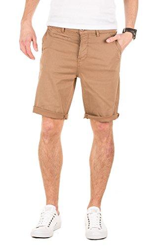 Yazubi Shorts Herren Travis - beige Chino Sommer Hosen - braune Männer Bermuda Hose, Camel (3004), W32