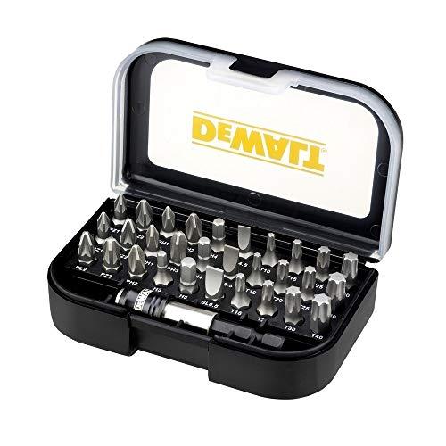 DEWALT DT7944S-QZ - Juego de 31 piezas con puntas de atornillar Pz1x2, Pz2x3, Pz3x1, Ph1x2, Ph2x2, Ph3, Pl4.5, Pl5.5, Pl6.5, T10x2, T15x2, T20x2, T25x2,T30x2,T40x2, H3, H4, H5 y adap cambio rápido