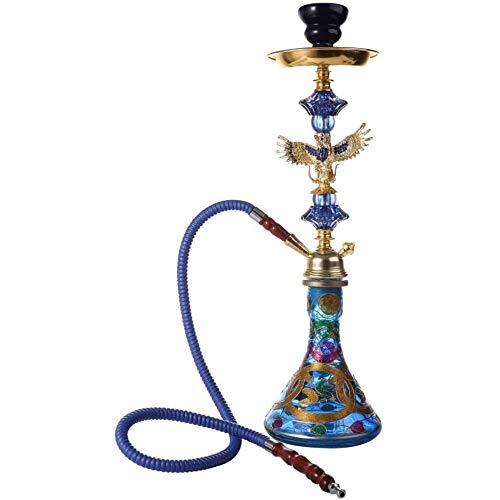 JINFAN Juego De Cachimba Shisha,árabes Estilo Café Sheesha Pipa De Tabaco para Discoteca (sin Nicotina),Blue