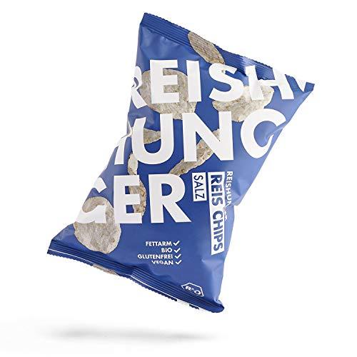 Reishunger Reis Chips »Salz«, glutenfrei - Knusprige Chips aus Bio-Vollkorn Reis - 4er Pack (4 x 50 g) - erhältlich in 50 g bis 600 g