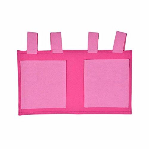 XXL Discount Sac de rangement pour lit d'enfant Rose/rose 48 x 30 cm 100 % coton