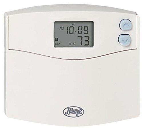 Hunter 44110 Set & Save 5+2 Programmable Thermostat, White