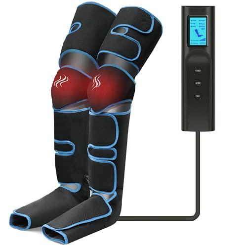 Massaggiatore Gambe, Massaggiatore per Piedi con 6 Modalità e 3 Intensità, Compressione...