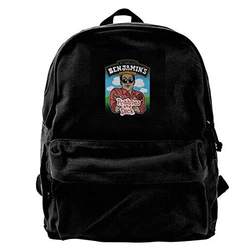 Mode lässig Leinwand Rucksack Canvas Backpack Waynes World Benjamins Praline and Dick Flavour Ice Cream Rucksack Gym Hiking Laptop Shoulder Bag Daypack for Men Women