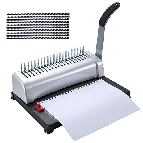 FLK Tech Binding Machine with Starter Combs Set for A4-21 Hole / 450 Sheets Paper Punch Binder