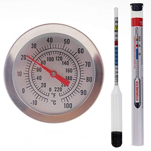 Balliihoo Homebrew hidrómetro y 300mm Brewing Dial Termómetro–Homebrew equipo unidades