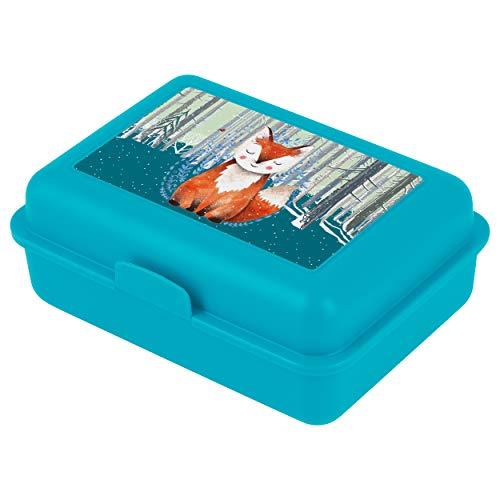 baagl Brotdose Kinder mit Fächern - Lunchbox mit Trennwand für Schule und Kindergarten - Jausenbox mit Unterteilung für Mädchen (Foxie)