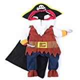 Pet Pirate Costume Pet Halloween Christmas Cosplay Dress Funny Dog Cat Cosplay Prop Dressing up Party Apparel for Halloween Christmas Weekend Parties Birthday(M)