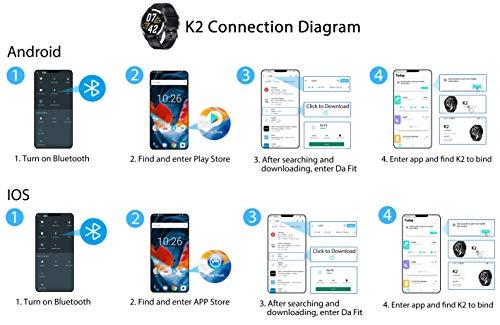 Smartwatch, Reloj Inteligente Impermeable IP68 para Hombre Mujer niños,Pulsera de Actividad Inteligente con 14 Modos de Deporte,con Pulsómetro,Blood Pressure,Sueño,Podómetro,para Android y iOS -Rosado miniatura
