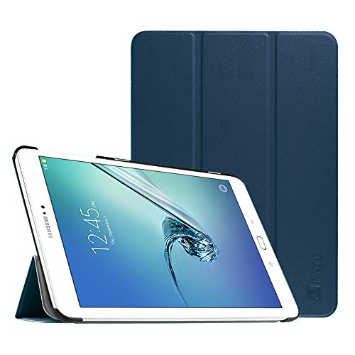 Fintie Hulle fur Samsung Galaxy Tab S2 97 T810N T815N T813N T819N 246 cm 97 Zoll Tablet PC Ultra Schlank Stander Cover Schutzhulle mit Auto SchlafWach Funktion Marineblau