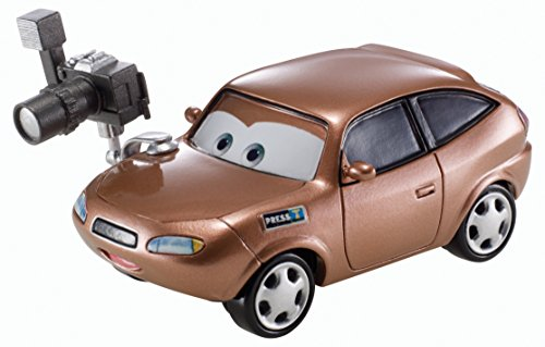 Disney Pixar Cars Cora Copper (Racing Sports Network, # 6 of 8) - Voiture Miniature Echelle 1:55