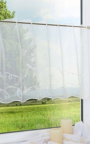 LYSEL Scheibengardine Kringel (Bx H) 150cm * 50cm weiß