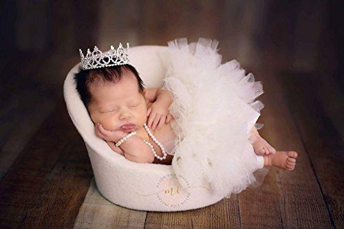 'Adela' Mini Rhinestone Crown, Newborn Photography Prop, Toddler/Child Flower Girl Princess Tiara