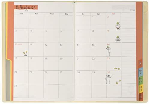 デザインフィルミドリポケットダイアリー手帳2020年B6ウィークリーオジサン柄27805006(2019年10月始まり)