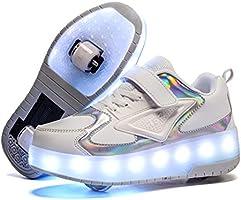 Kinderen LED USB-oplaadrol Skate-schoenen met wielschoenen lichte rolschoenen oplaadbare roller sneakers voor meisjes...