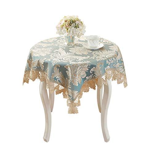 Style européen nappe dentelle carré Rectangle Table Cover avec tissu imprimé Jacquard Floral nappe élégante pour la décoration (taille : 110 * 110cm)