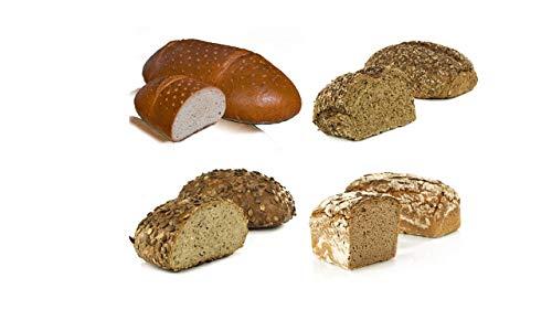 Vestakorn Handwerksbrot, Sauerteigbrot Auswahl - frisches Brot - 4 verschiedene Brote vom Handwerksbäcker zum selbst aufbacken in 10 Minuten