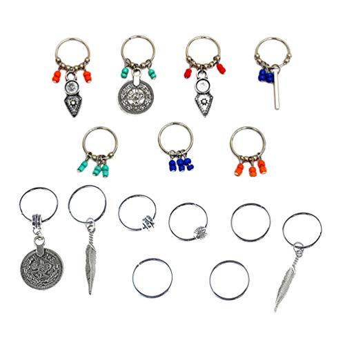 Lurrose 2 Sets Dreadlock Beads Pinzas para El Cabello Anillos Decorativos para El Cabello Diy Accesorios para Trenzas de Cabello Anillos de Trenza de Aleación Aros para El Cabello