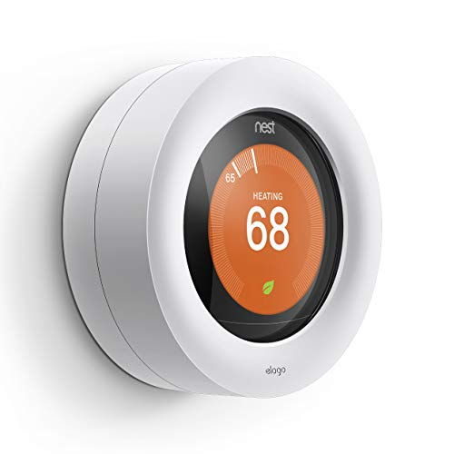 elago Lock Designed for Nest Learning Thermostat [White] - Compatible with Google Nest Learning Thermostat 1/2/ 3 Generation & E, Home or Public Protection, Secure Lock [US Patent Registered]