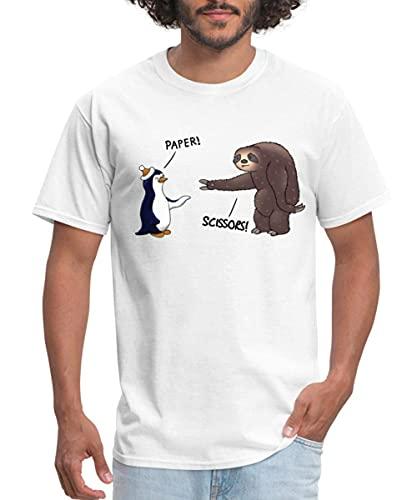 Sloth and Penguin Rock Paper Scissors Men's T-Shirt