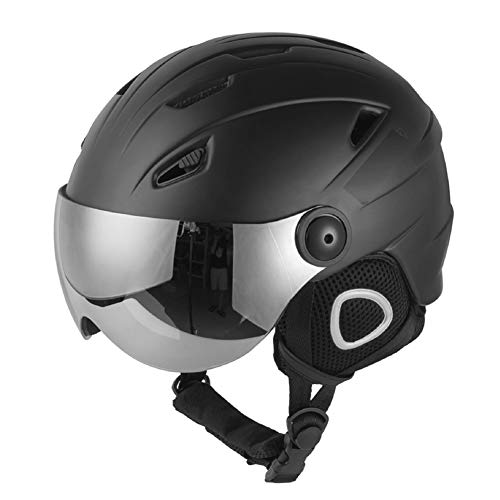 DIDIDIOI helm, skihelm, snowboardhelm, winterski, warme veiligheidsslee Vespa helmcap gedeeltelijk bedekt skihelm met zonnebril