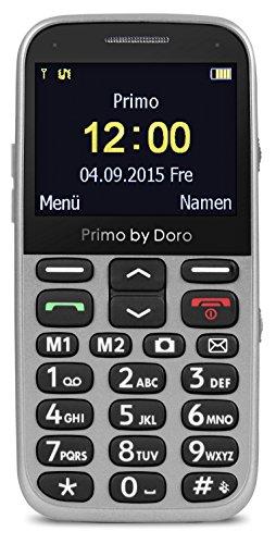 Primo 366 by Doro Großtastenhandy mit Tischladestation silber