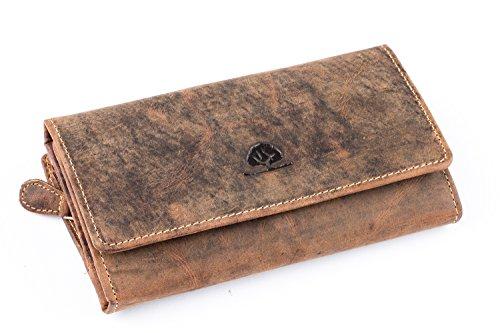 Greenburry Vintage Geldbörse Leder 18 cm (braun)